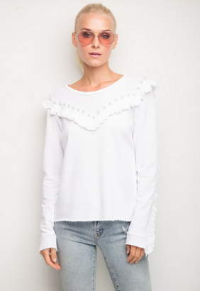 Generation Love Lola Pearls Sweatshirt With Ruffle