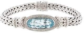 John Hardy Topaz & Diamond Classic Chain Bracelet