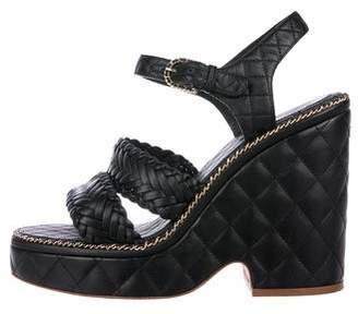 Chanel 2015 Quilted Platform Sandals