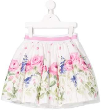 MonnaLisa floral gathered skirt
