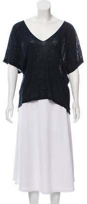 Malo Linen Short Sleeve Top