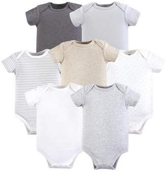 Baby Vision 0-24 Months Unisex Hudson Baby Baby Cotton Bodysuits, Neutral 5-Pack