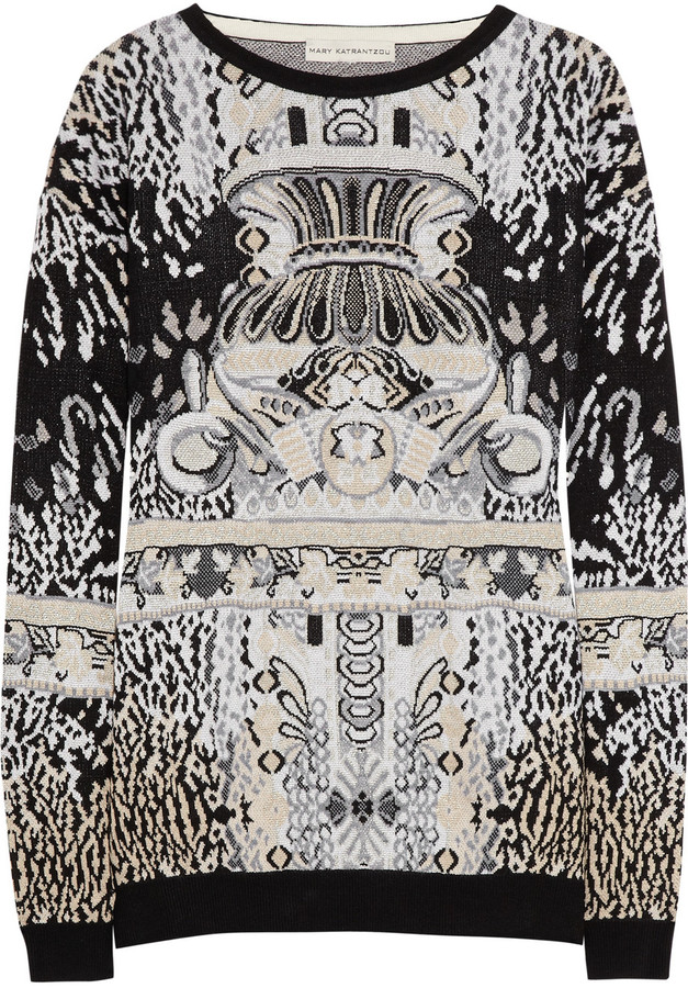Mary Katrantzou Intarsia knitted sweater