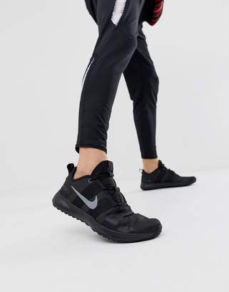 Nike Training Varsityu Compete sneakers in triple black