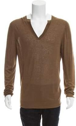 Bottega Veneta Linen-Blend V-Neck Sweater