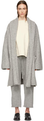 LAUREN MANOOGIAN Grey Capote Hooded Cardigan