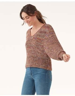 Splendid Briar Marled V-Neck Sweater