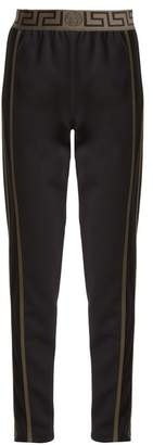Versace Logo-jacquard side-stripe performance track pants