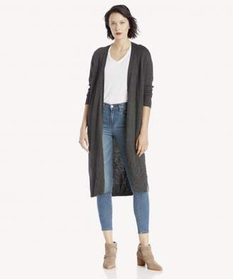 Sole Society L/S Open Front Textured Long Cardigan
