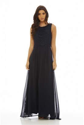 1ee07099f8 AX Paris Women Crochet Overlay Maxi Dress
