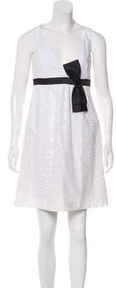 Michael Kors Eyelet Bow-Accented Dress