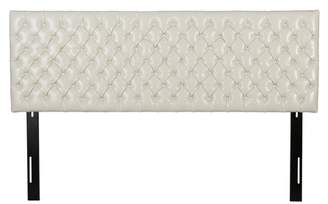 Christopher Knight Home Jezebel Tufted Bonded Leather Headboard -King/California King Ivory