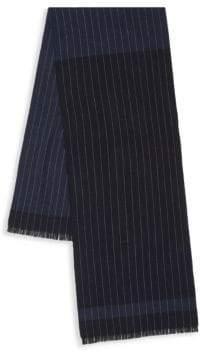 Saks Fifth Avenue Striped Wool Scarf