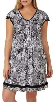 Ellen Tracy Plus Yours to Love Short Sleeve Chemise