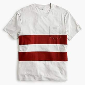 J.Crew Triblend T-shirt in red double stripe