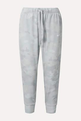 Nike Rebel Camouflage-print Dri-fit Track Pants - Light gray