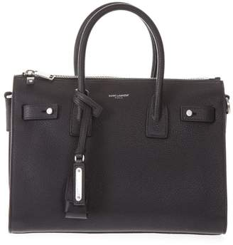 Saint Laurent Black Sac Du Jour Pebbled Leather Bag