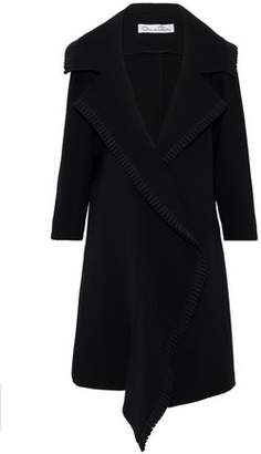 Oscar de la Renta Pleated Wool-Blend Coat