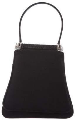 Judith Leiber Satin Crystal Embellished Handle Bag