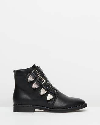 Missguided 4-Strap Buckle Ankle Boots