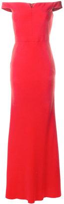 Alexander McQueen off-shoulder gown $3,175 thestylecure.com