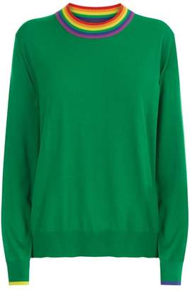 Burberry Stripe Detail Sweater