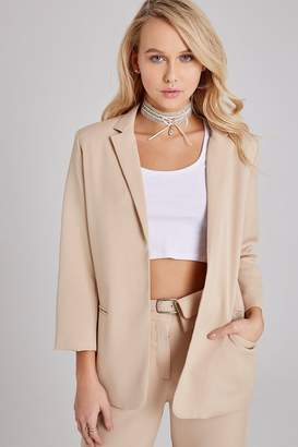 Girls On Film Outlet Maggie Beige Blazer Co-ord