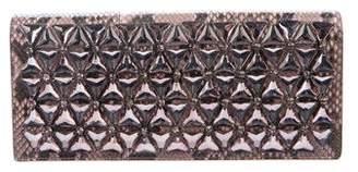 Gucci Python Embellished Broadway Clutch
