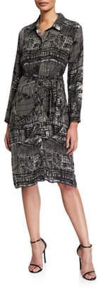Tolani Cupro Relaxed Shirtdress