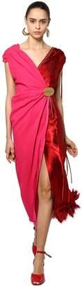 Marni Double Sablè & Satin Dress