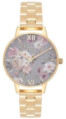 Olivia Burton Winter Garden Bracelet Watch, 30mm