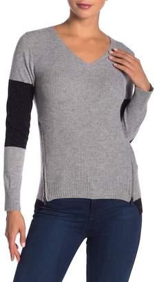 Lynk Knyt & V-Neck Zipper Cashmere Sweater