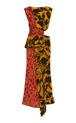 Prabal Gurung Shar Ruffle-Front Print Dress