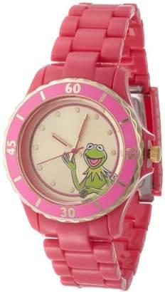 Disney Muppets Women's MU2051 Kermit Sunray Dial Fuschia Plastic Bracelet Watch