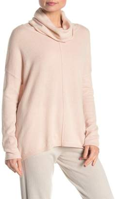 Kinross Cowl Neck High/Low Cashmere Sweater