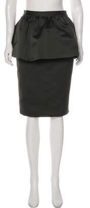 Burberry Peplum Pencil Skirt