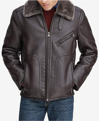 Andrew Marc Men Fleece-Collar Jacket