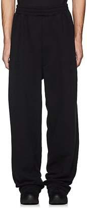 Vetements Men's Cotton-Blend Wide-Leg Sweatpants