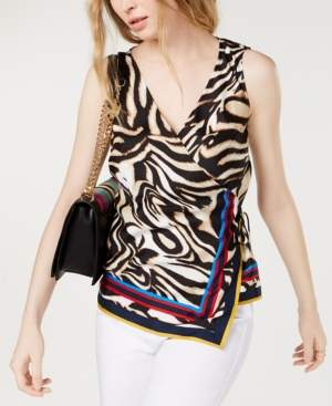 INC International Concepts Inc Petite Wrap Top, Created for Macy's