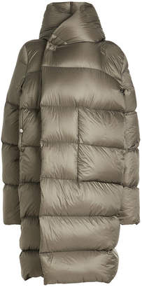 Rick Owens Quilted Coat with Hood