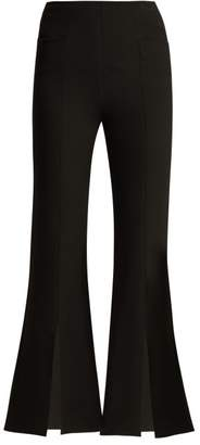 Roland Mouret Danesfield Kick Flare Crepe Trousers - Womens - Black