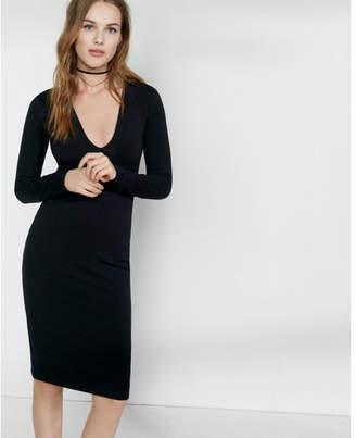 Express deep v-neck dress $49.90 thestylecure.com