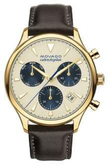 Movado Men's Heritage Gold Ion-Plated Stainless Steel Watch - Brown