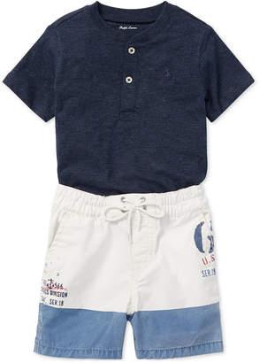 Polo Ralph Lauren Baby Boys Cotton Shirt & Shorts Set