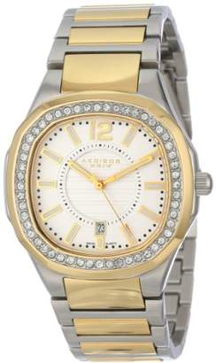 Akribos XXIV Women's AK550TTG Impeccable Crystal Silver-Tone and Gold-Tone Stainless Steel Bracelet Watch