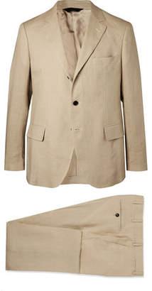 Piombo MP Massimo Stone Emile Slim-fit Unstructured Linen Suit - Beige