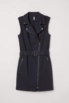 H&M Twill Biker Dress - Black