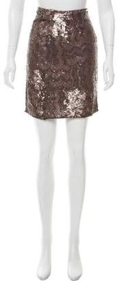 Gold Hawk Sequined Mini Skirt