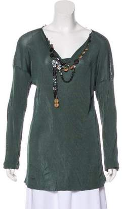 Jean Paul Gaultier Maille Femme Button-Accented Top