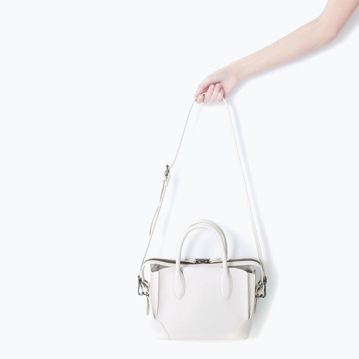 Zara Gussetted Shopper Bag